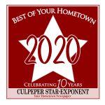 Best of your Hometown 2020 award badge